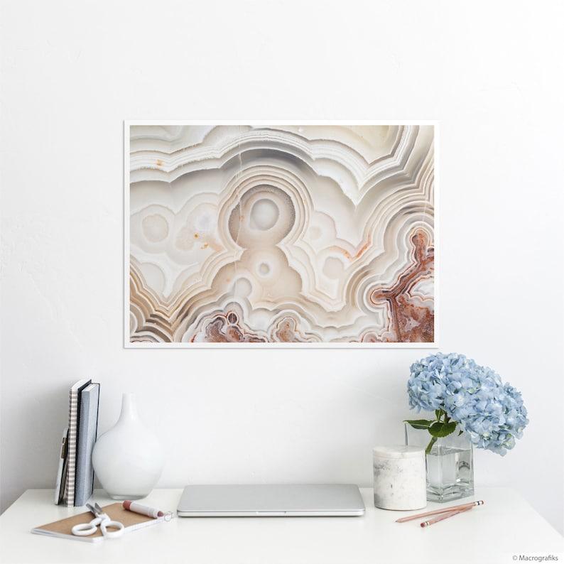 Laguna Lace agate print for wall decor Minimalist wall art on A2 | 23.4 x 16.5 inches