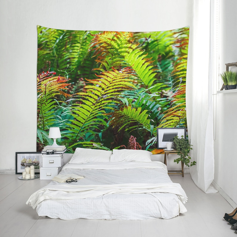 Nature backdrop with a still photography of fern leaves for image 0