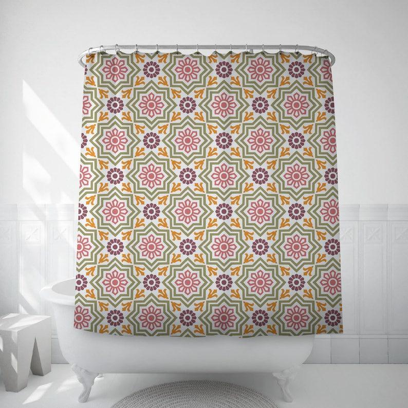 Moroccan Decor Shower Curtain Long Curtains Moorish