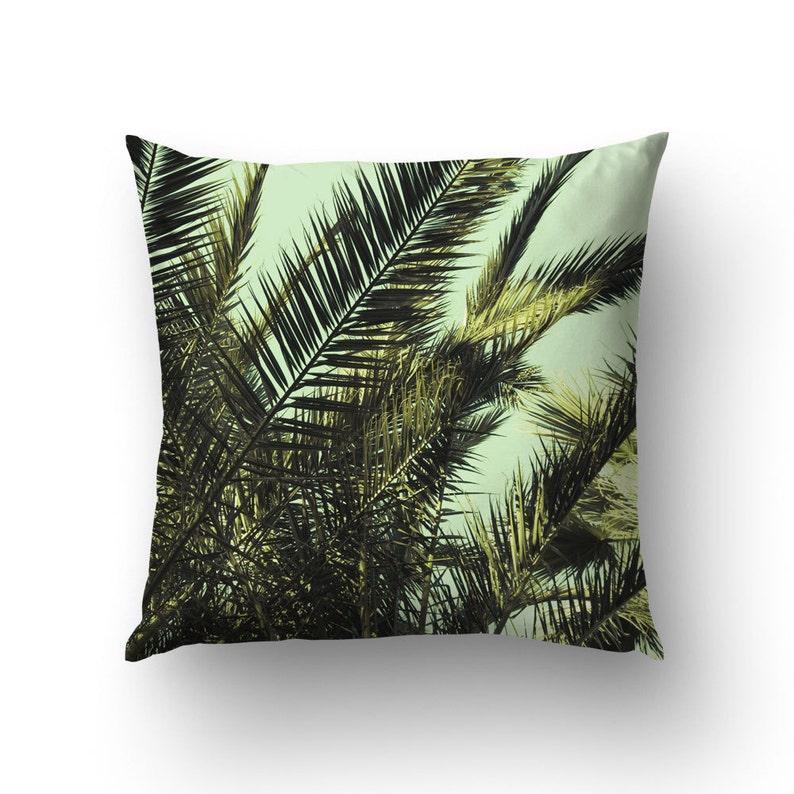 Palm leaf pillow | Etsy