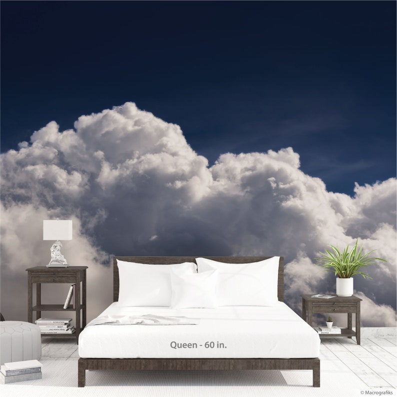 Clouds wallpaper Blue sky and cloud wall mural Hotel wall image 0