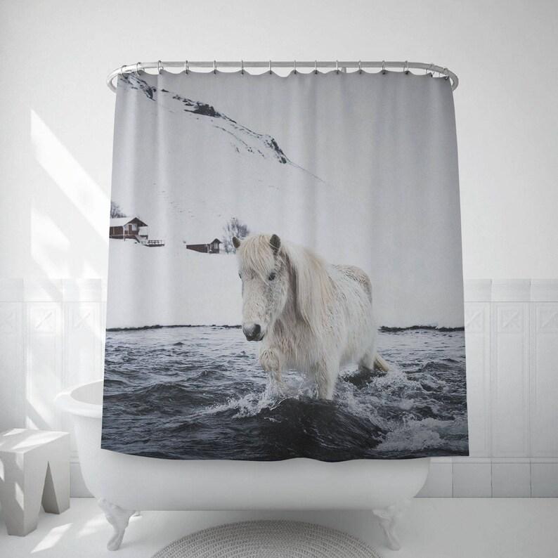 Horse Shower Curtain Icelandic Bath Accessories Home