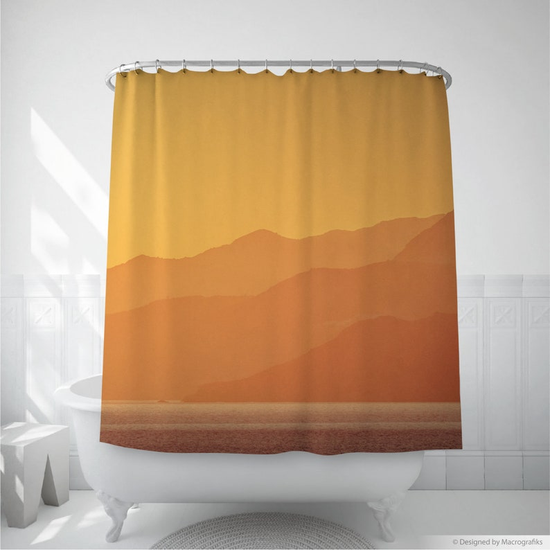 Sunset shower art with a yellow landscape photography of image 0