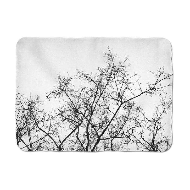 Tree branch throw blanket Cosy throws Sherpa blanket Sofa image 0