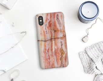 iPhone 12 case with a Pink Opal mineral photo, Marbled phone case, Mobile cases for iPhones, Samsung and Google Pixel. MW152
