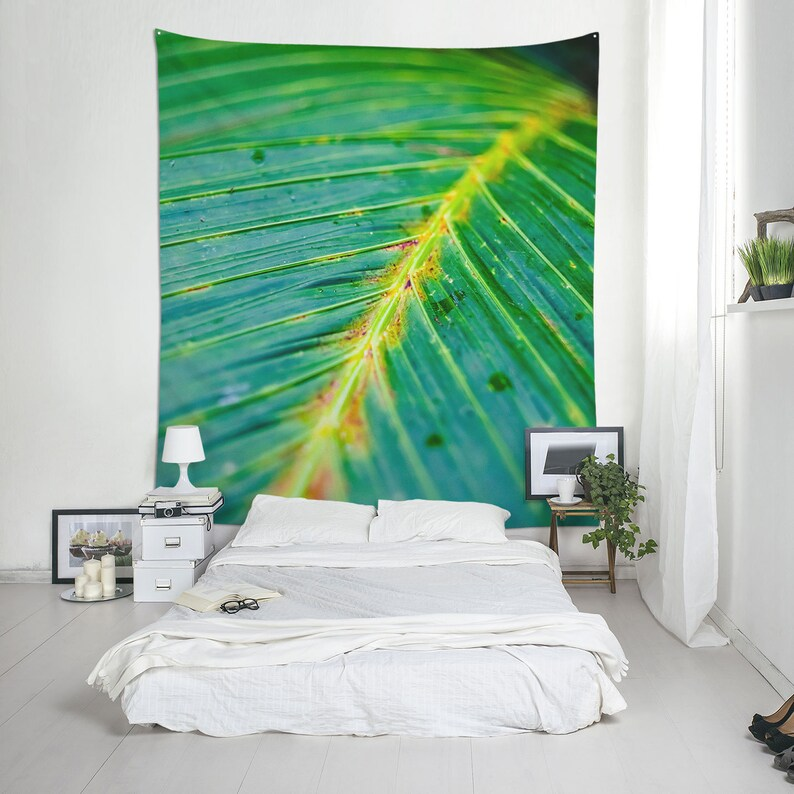 Leaf wall hanging made of fabric Tropical decor Ecology shop image 0