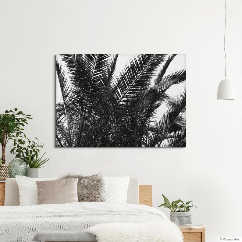Beach house canvas print Palm leaves decor for wall art image 0