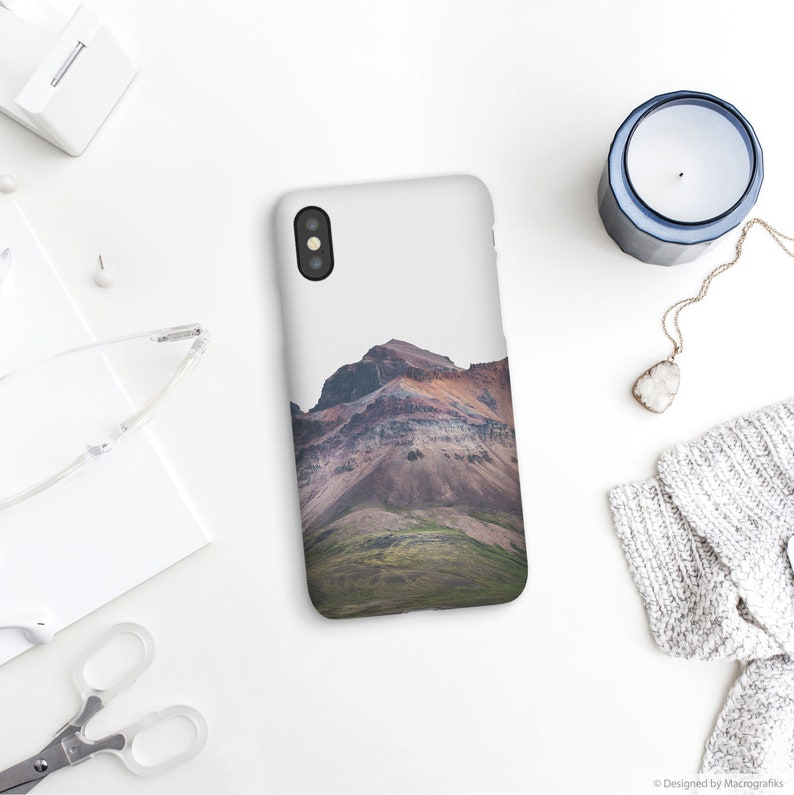 Volcanic mountain phone case Iceland landscape Unique phone image 0