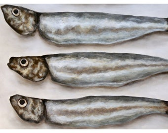 Sardine, Fish, Food, Seafood, Kitchen Art, Kitchen Decor, Kitchen, Sardines, Ocean, Sea, Coastal, Decor, Foodie, Menu, Restaurant, Oversized