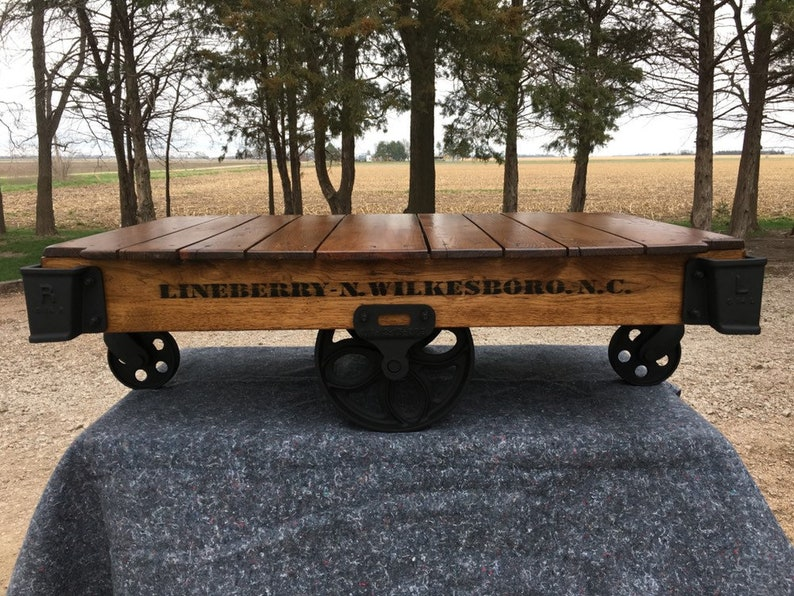 Bon Linebery Factory Cart / Railroad Cart Coffee Table