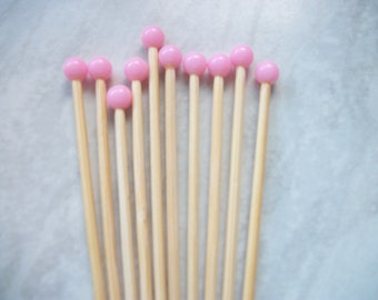 ideal for Card Toppers Embellishments,secret Santa,Tree Gift Dark Pink Sea Shell Beads Scrapbooking 5 pairs of Mini Knitting Needles