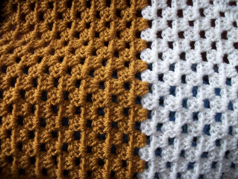 Crochet Granny Square Blanket 33.25 X 32.5,Baby blanket,Pet Blanket,Wheelchair Blanket,Car Blanket,Cot Blanket,Play Mat,Secret Santa,Brown
