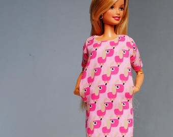 cute puppy dress with pockets for Barbie & other 1:6 scale dolls
