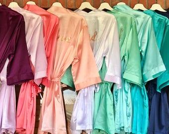 4d0c5c2bc5 Satin Bridesmaid Robes