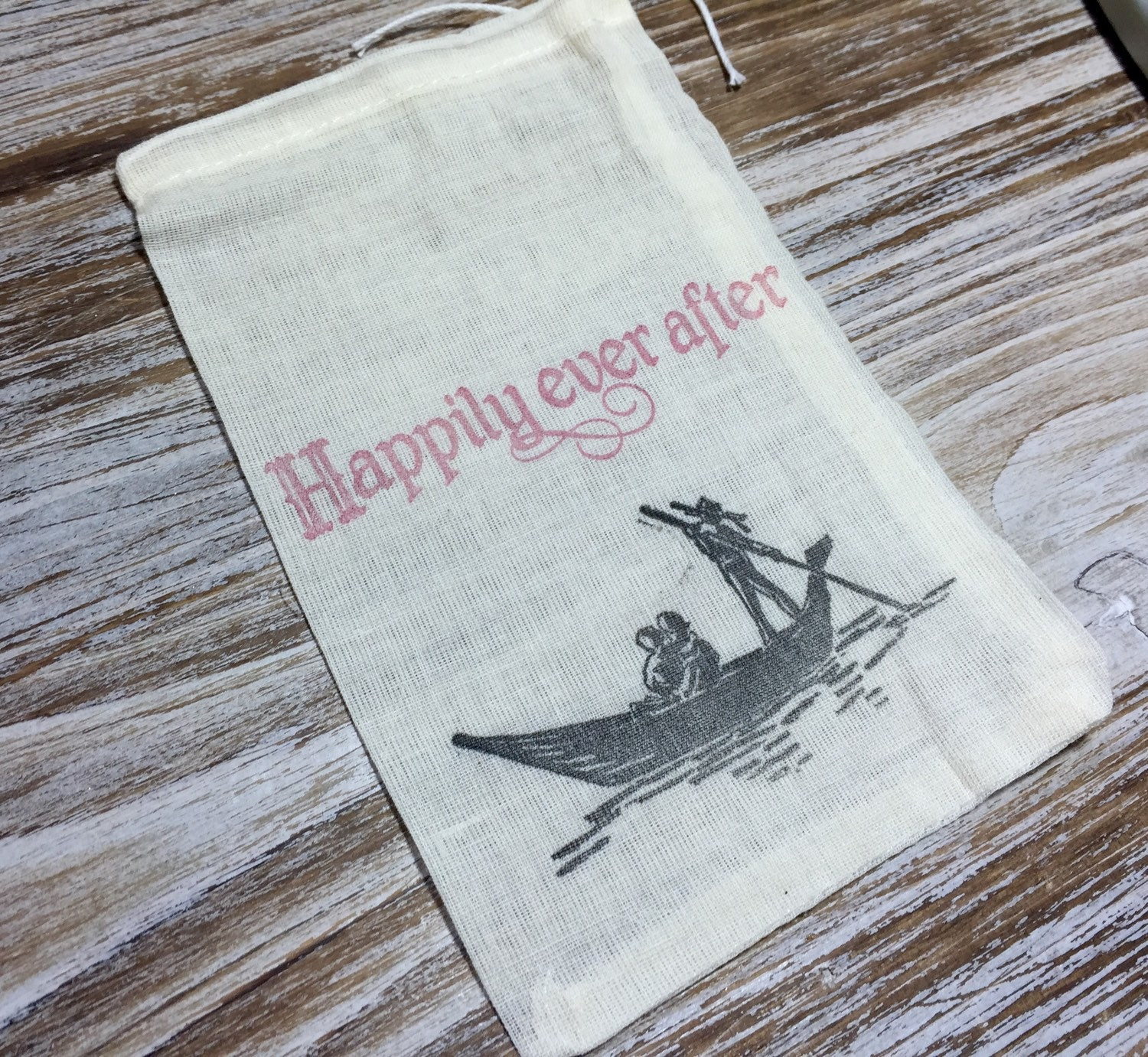 10 Italian Wedding Favor Bags Gondola Favor Bags Romantic Favor