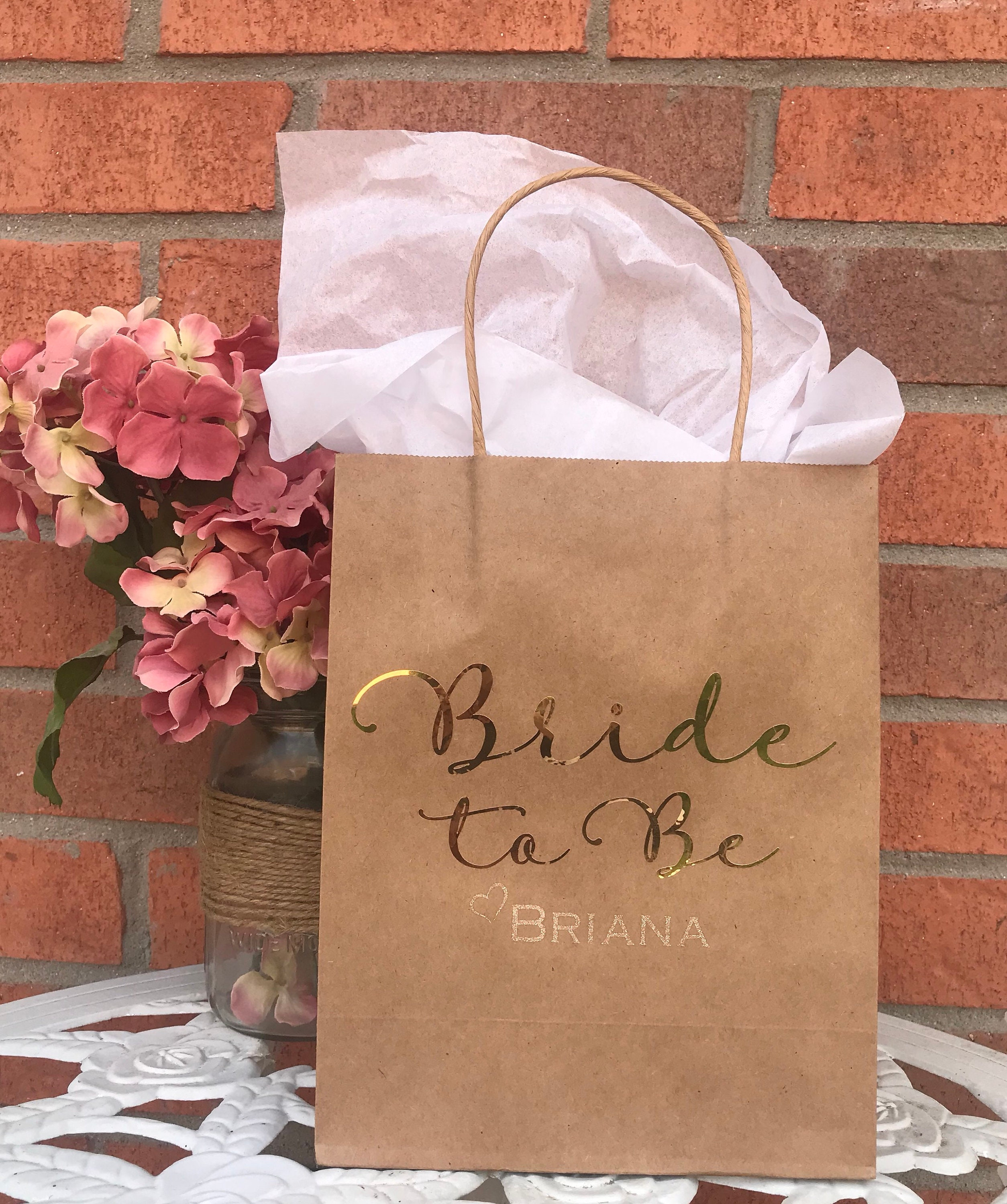 Bridal Party Gift Bags Bridesmaid Gift Bags Maid Of Honor Gift