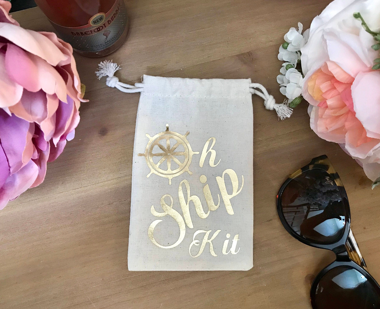 Oh Ship Kits Gold Cruise Hangover Kits Bachelorette Recovery Kits
