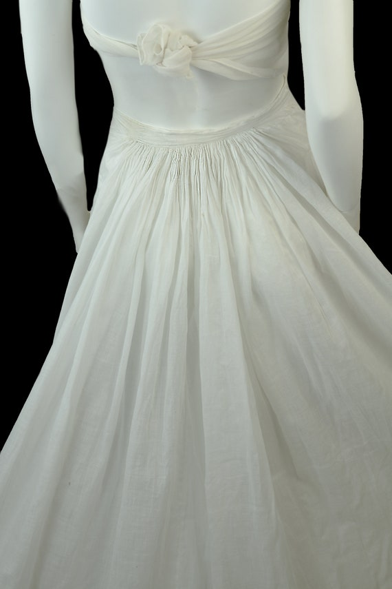 Victorian Dress Skirt Petticoat 1890s Batiste Bus… - image 2