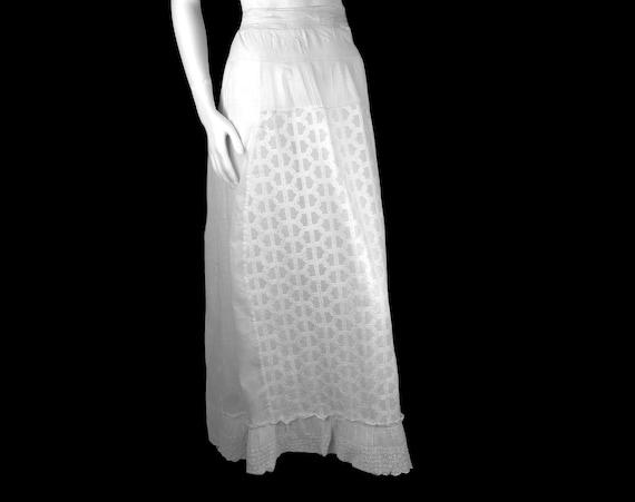 Victorian Dress Skirt Petticoat 1890s Batiste Bust