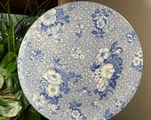 Spode PRIMULA 12-3 4 quot Round Platter Pizza Plate Chop Plate Charger - Blue Room Collection - Blue and White Transferware