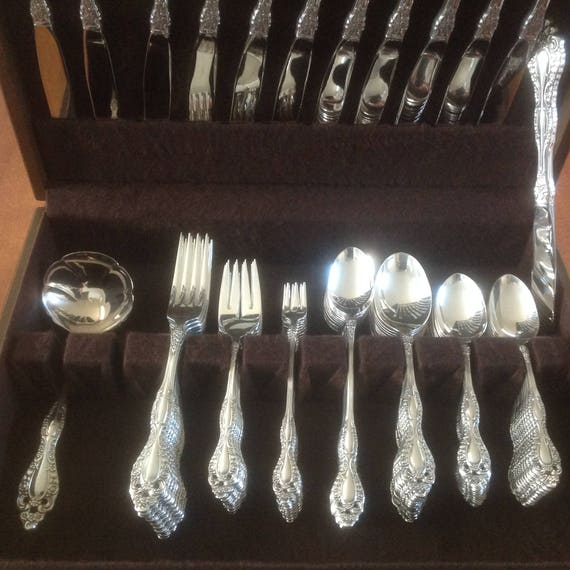 Ambassador by 1847 Rogers Plate Silverplate Serving Spoon Pierced 9-Hole Custom