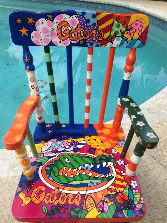 Sold Sports Team Rocking Chair Kids Rocking Chair Hand Etsy