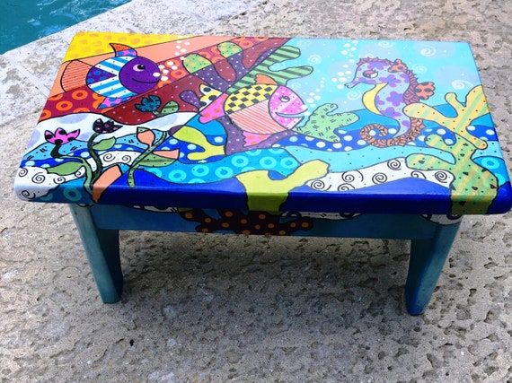 Fabulous Sold Hand Made Kids Step Stool One Of A Kind Alphanode Cool Chair Designs And Ideas Alphanodeonline
