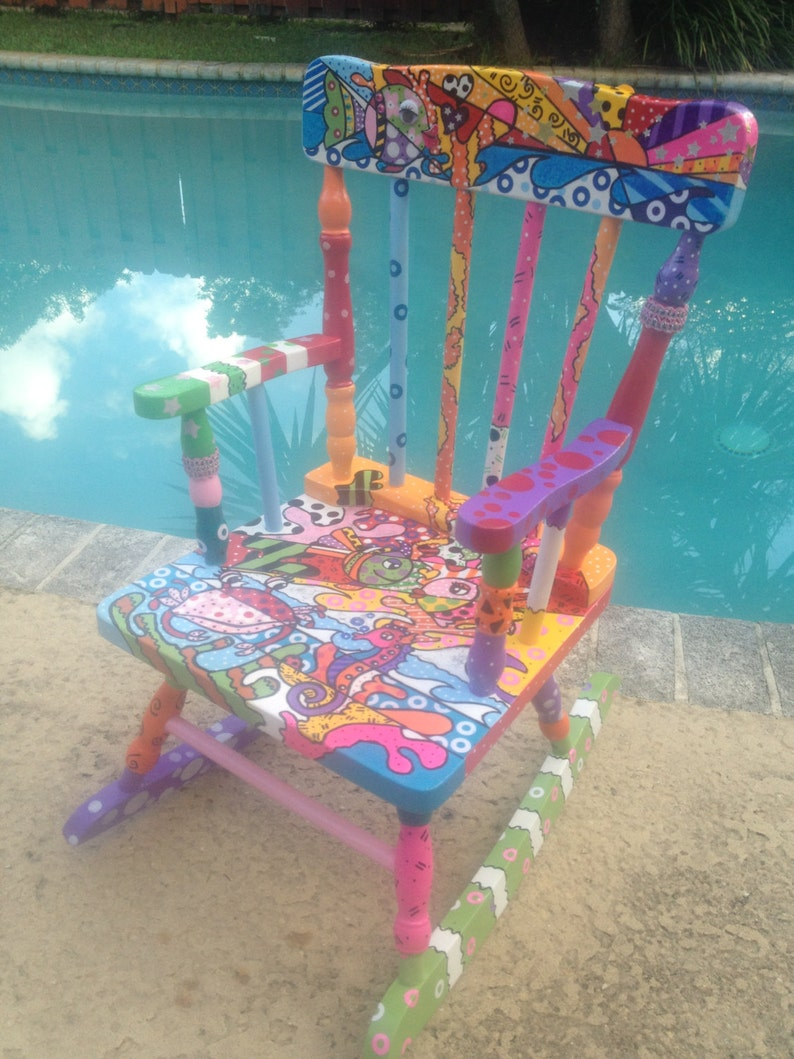 Cool Custom Order Hand Painted Kids Rocking Chair Creativecarmelina Interior Chair Design Creativecarmelinacom