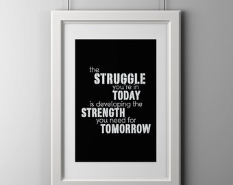 Motivation quotes, wall print, 8x10 inch shipped to your door.