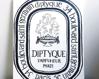 Diptyque - French Iconic Logo Painting