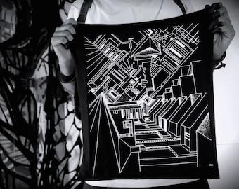 Black Bandanna White Screen Print Limited Edition Art Print By Spunkhyde Designer Miz Marto