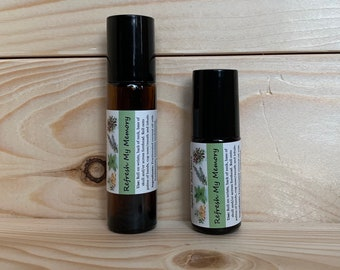 REFRESH MY MEMORY Essential Oil Blend Rollerball Roll On To Use