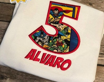 Justice League Birthday Boy Shirt