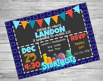 Print or Digital | Storybots | Netflix | Invitation | Birthday | Thank You | Customizable