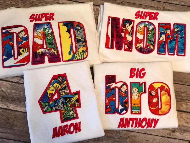 Superhero Family Shirts Flash Birthday Shirt