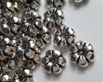10 x SILVER PLATED SPIRAL SPRING BEAD CONES size 23x 10mm