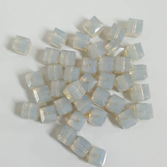 20240993f11796 6mm Swarovski Crystal Cube Beads LIGHT GREY Select 6 or 12
