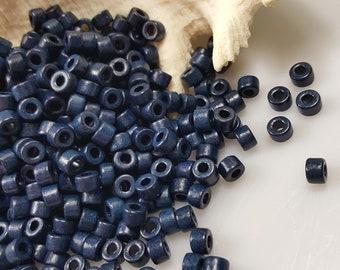 6x4mm Mykonos Greek Ceramic Mini Tube Beads - Navy Blue #199 - Select 50 or 100 Beads