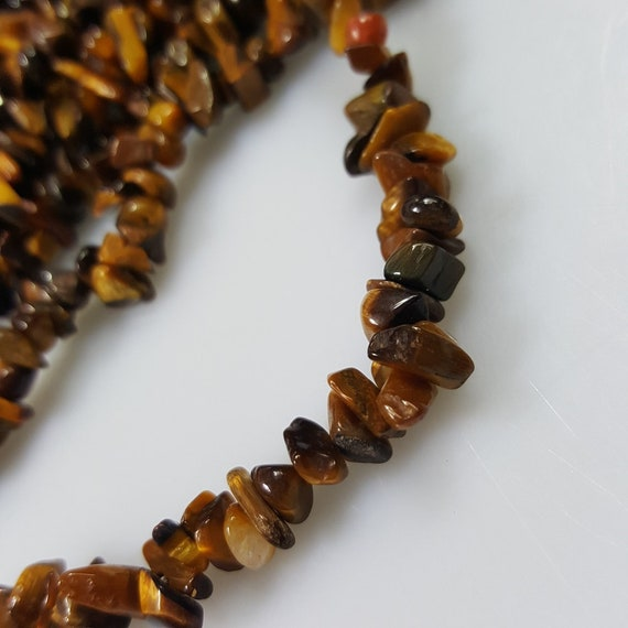 "36/"" Semi Gemstone Tiger/'s Tiger eye  Beads Chips"