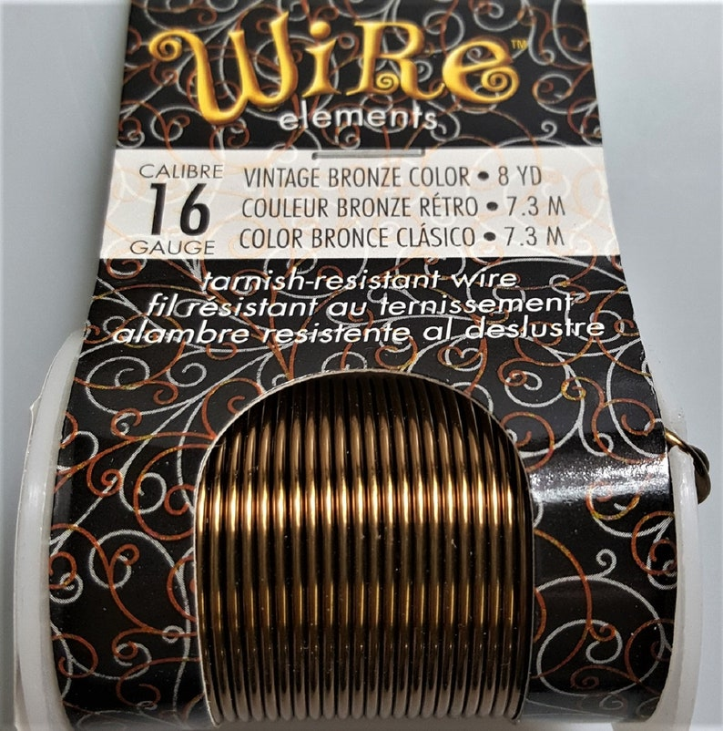 16 Gauge Vintage Bronze Finish Tarnish Resistant Craft Wire 8 Yds 7 3m Full Roll