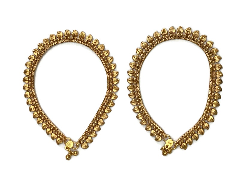 Gold Color Payel Anklets Surbhi MP Y2003 Indian Bollywood Fashion Party wear Jewelry Fashion Jewelry