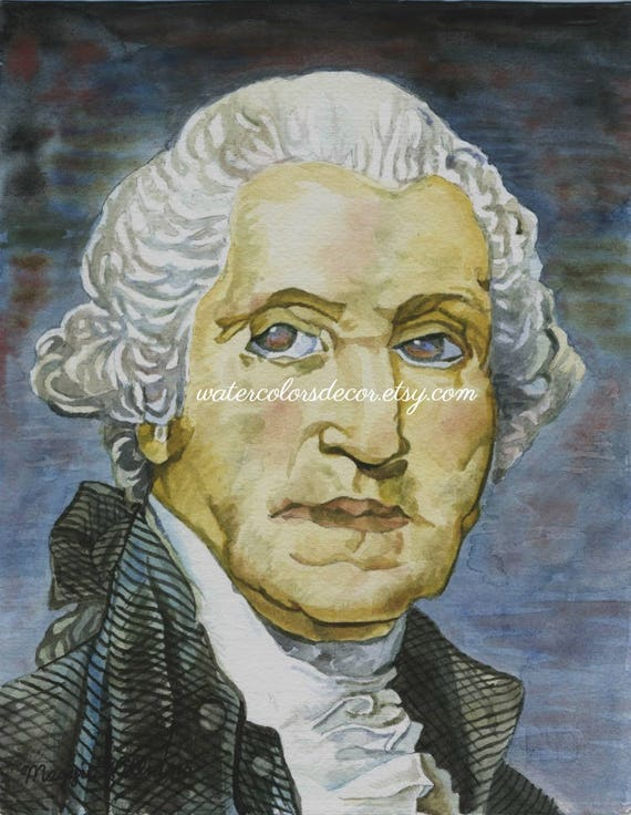 photo regarding Printable Pictures of George Washington named George Washington watercolor print. President portrait. Colonial Decor. Higher education wall artwork. 18th Century artwork. Early American. Federal decor.