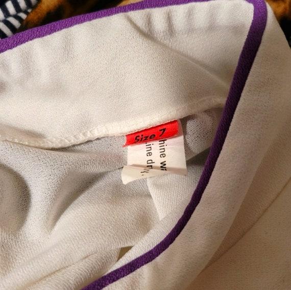 Vtg 90s Qipao Look White Dress S - image 5