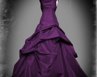 Purple Wedding Dress Gothic Ball Gown - Casey Style - Custom Made in your size