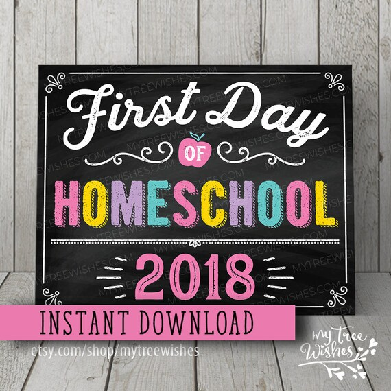 first day of homeschool sign first day of homeschool etsy rh etsy com