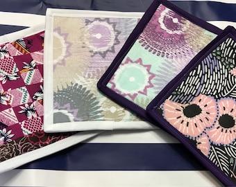 More colorful mug rugs