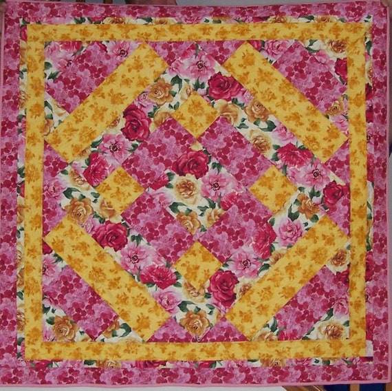 Sweet 3 Fabric Lap Quilt Pattern Etsy