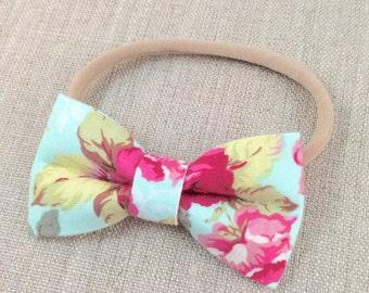 Girls bow headband, nylon bow headband,  bow headband, baby bow headband, girls bow headband, nylon bow headband