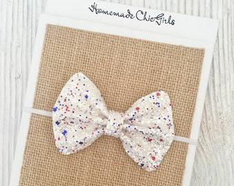 4th of july baby bows Blue velvet baby bow. Fourth of july velvet headbands Fourth of July headband set Red velvet baby bow