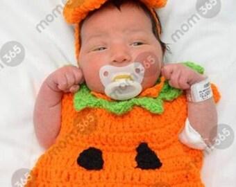 Crochet baby pumpkin costume set  sc 1 st  Etsy & Baby pumpkin costume | Etsy
